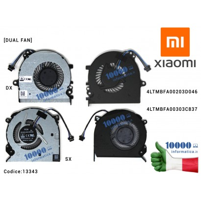 13343 Ventola di Raffreddamento Fan CPU XIAOMI 15,6'' MI Ruby TM1802-AC -AD MX110 [DIS] (2019) [DUAL FAN] DX+SX 4LTMBFA00203D...