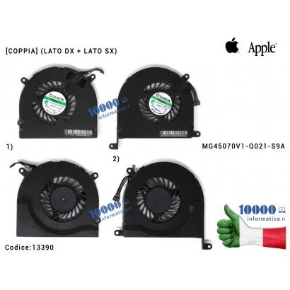 """13390 Ventola Fan APPLE MacBook Pro A1297 17"""" [COPPIA] (LATO DX + LATO SX) MC226 MC227 MG45070V1-Q021-S9A"""