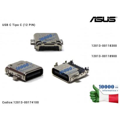 12013-00174100 Connettore di Alimentazione USB C Tipo C (12 PIN) ASUS FX570 G531 G731 GL504 N580 N580G N580V UX392 UX461 UX50...