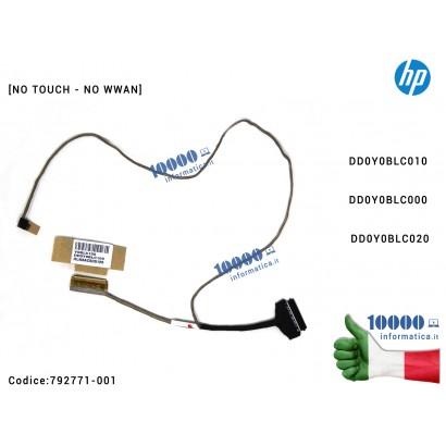 Cavo Flat LCD HP Stream 13-C 13-C000 13-C100 13-C002DX 13-C020 13-C077NR [NO TOUCH - NO WWAN] DD0Y0BLC010 DD0Y0BLC000 DD0Y0BLC020 792771-001