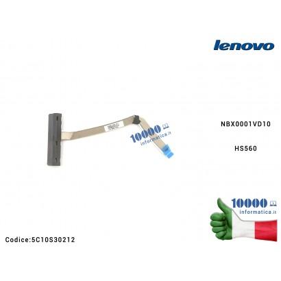 5C10S30212 Cavo Connettore FFC Hard Disk HDD SATA LENOVO IdeaPad 3-15ALC6 15ALC6 (82MF) (82KU) IdeaPad 3-15IT NBX0001VD10 HS560
