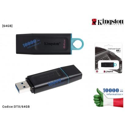 DTX/64GB PENDRIVE USB 3.2 Gen 1 64GB CHIAVETTA PENNA 64 GB CHIAVE FLASH KINGSTON DTX/64GB