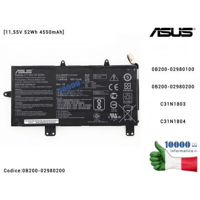 Batteria C31N1803 ASUS ZenBook Pro UX450 UX450F UX450FD UX480F UX480FD UX450FDX [11,55V 52Wh 4550mAh] C31N1804 0B200-02980100